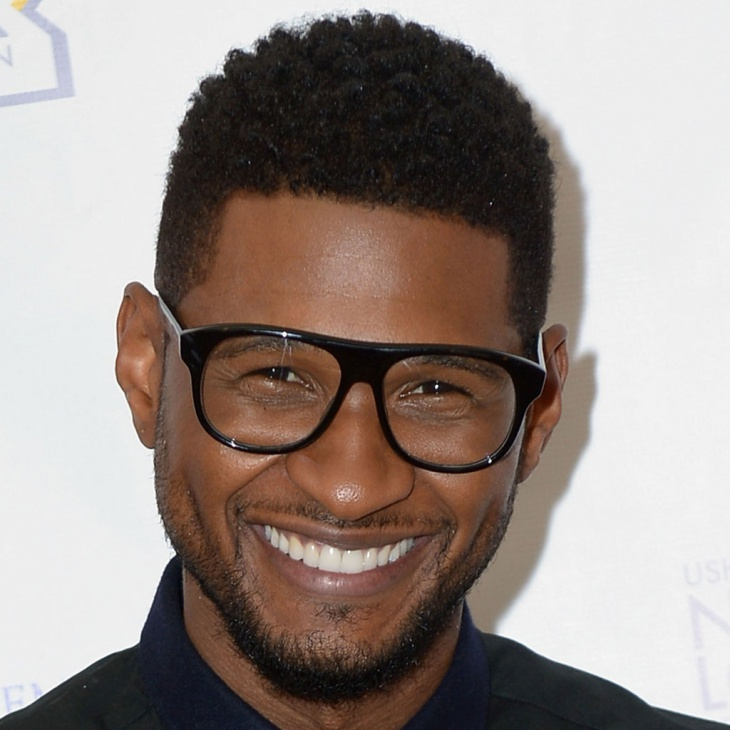 Usher Black Short Curly Hairstyle