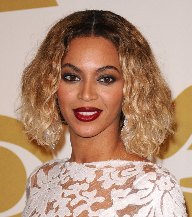 beyonce short curly bob sew in hairstyle