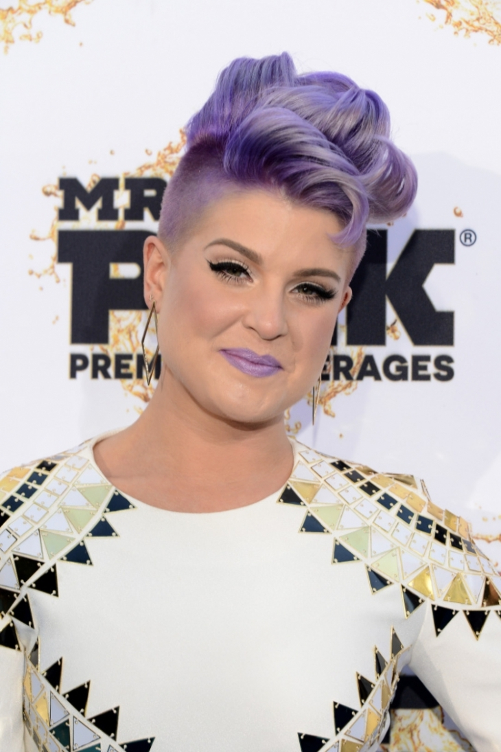Kelly Osbourne Short Curly Mohawk Hairstyle