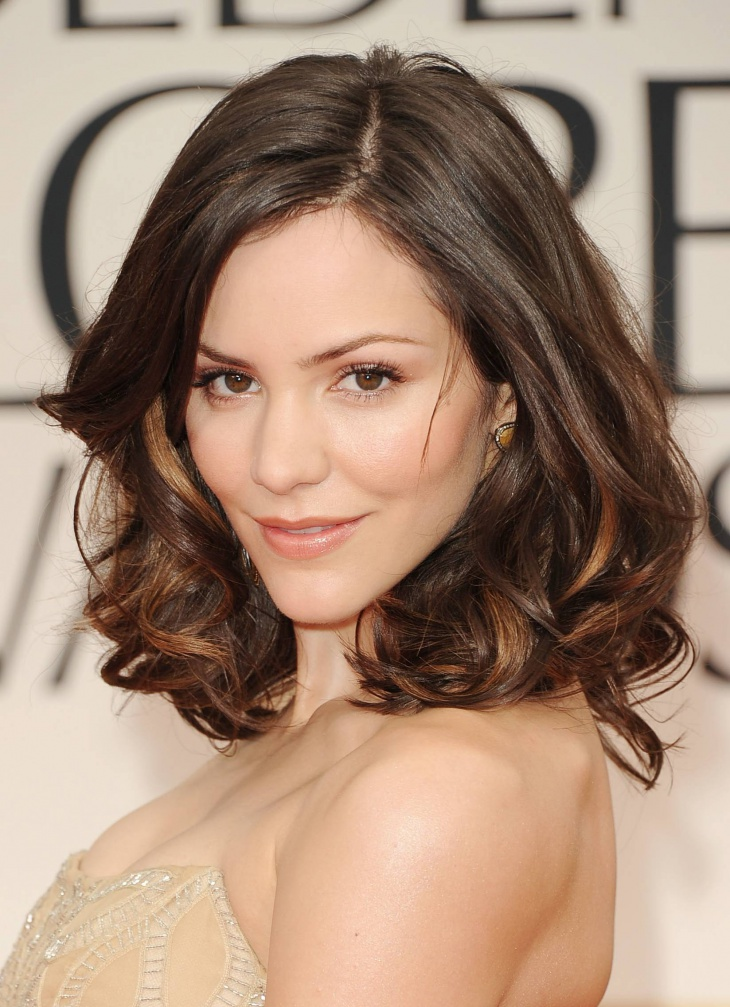 katharine mcphee short length layered curly hairstyle