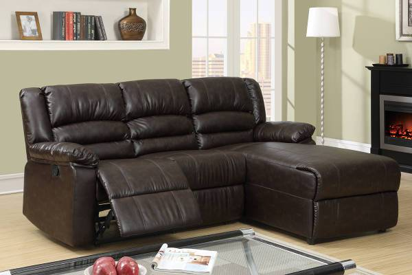 small leather reclining sectional sofa