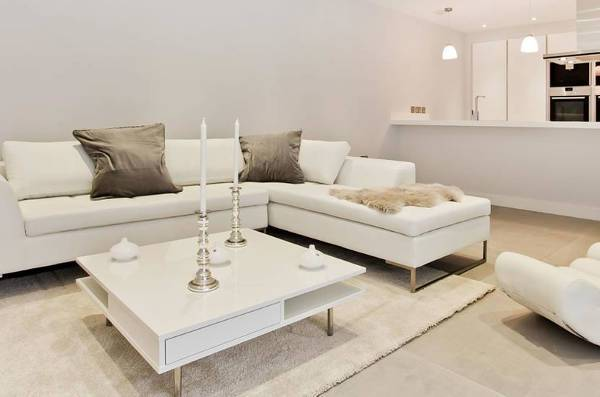 Small White Leather Sectional Sofa