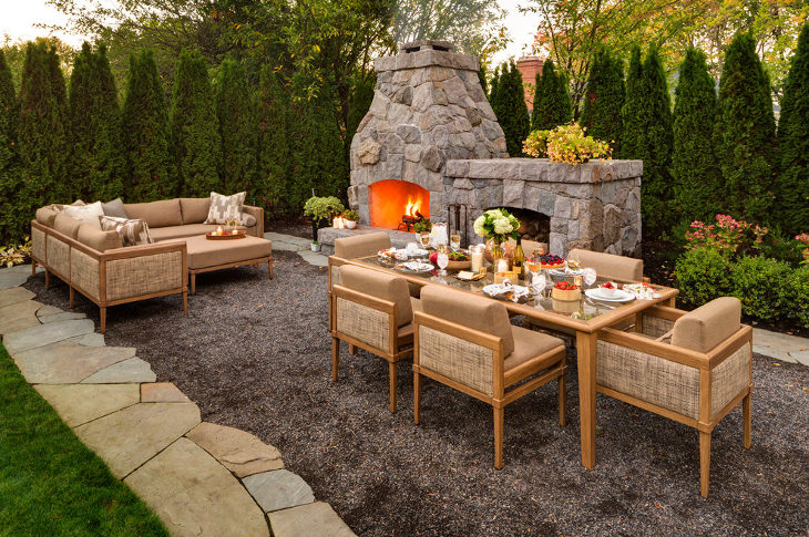 Outside Stone Fireplace Ideas: 24+ Outdoor Fireplace Designs, Ideas