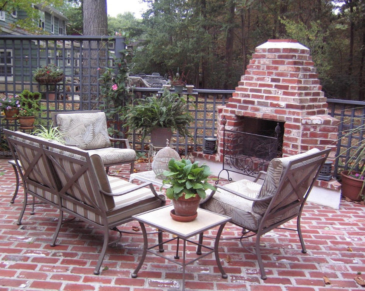 24 outdoor fireplace designs ideas design trends for Patio fireplace plans
