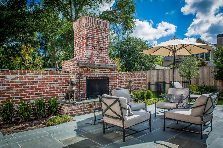 Outdoor Brick Fireplace Ideas Part - 20: Outdoor Red Brick Fireplace