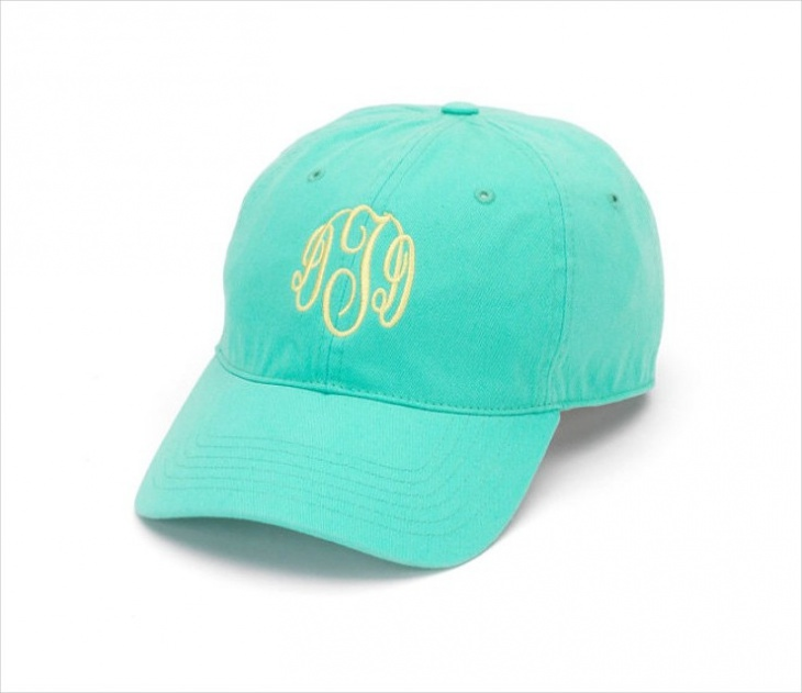 monogrammed preppy hat