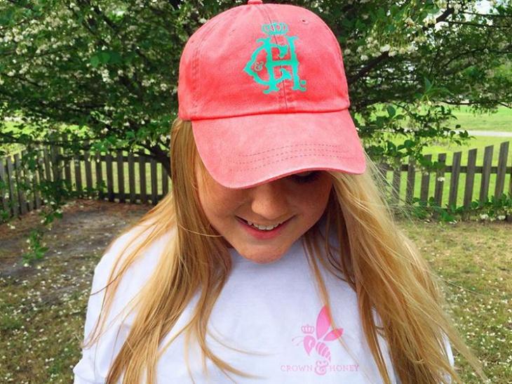 Simple Preppy Hat Idea
