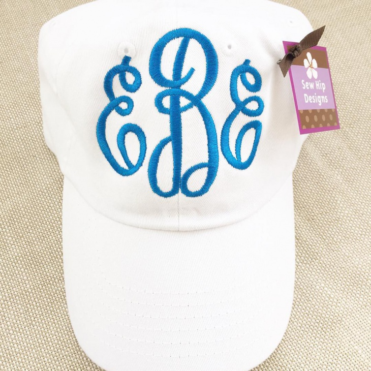 White Preppy Hat Design