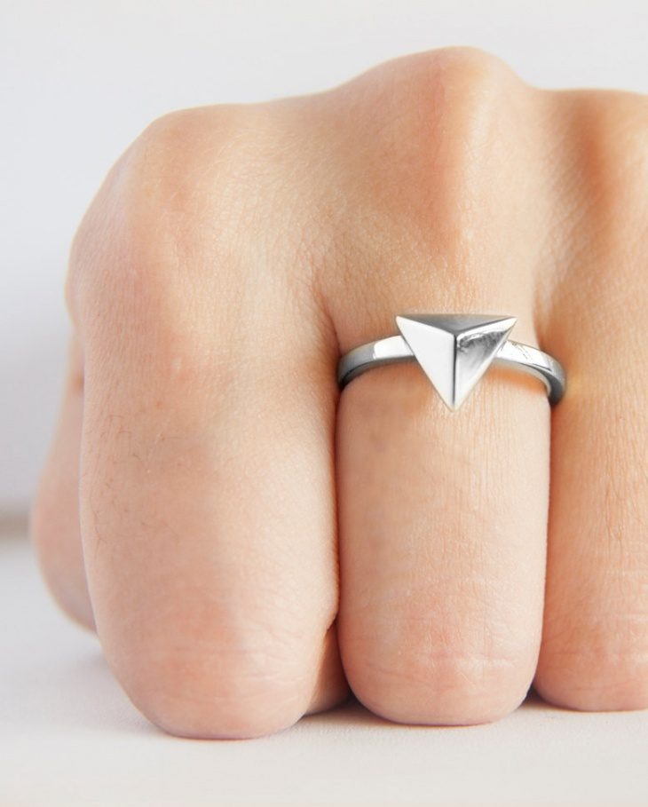 Mini Prism Stud Ring