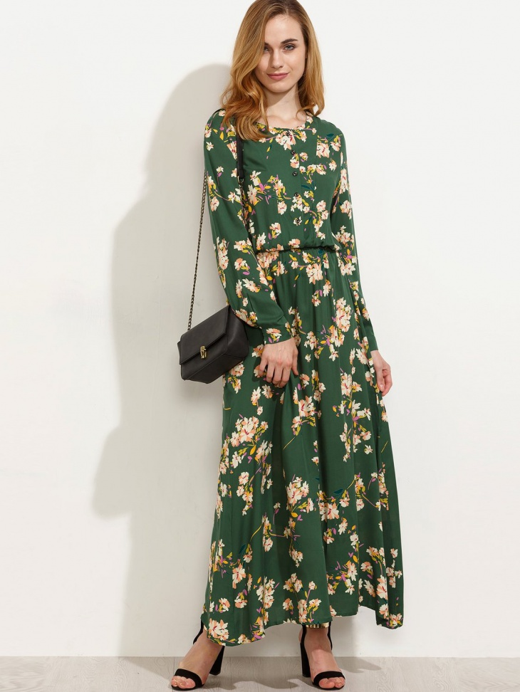 Fall Long Sleeve Maxi Dress