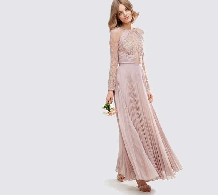 Long Sleeve Maxi Prom Dress