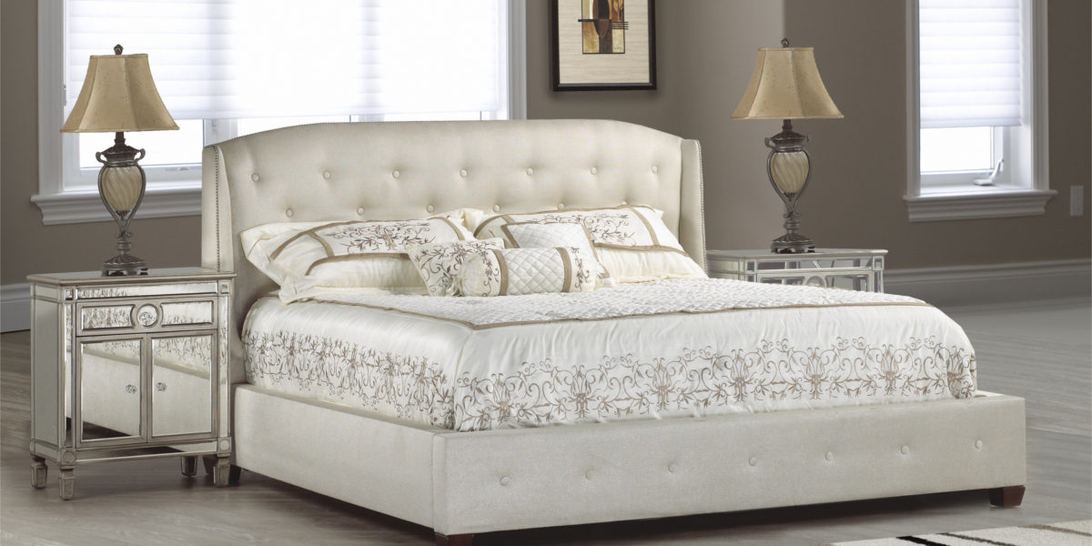 traditional platform style bed