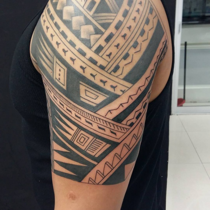 mens tribal arm tattoo