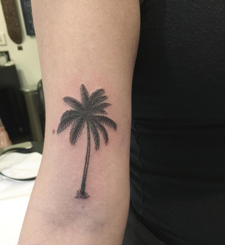 pam tree arm tattoo