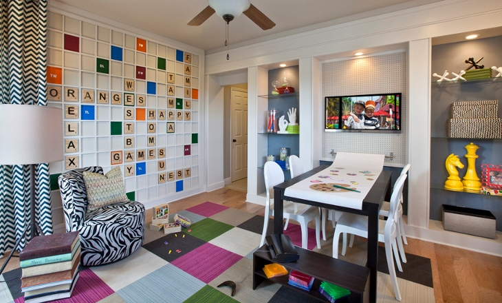 alphbets scrabble wall for kids