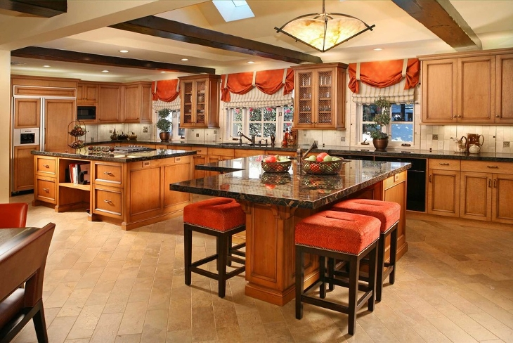 Color Double Kitchen Island
