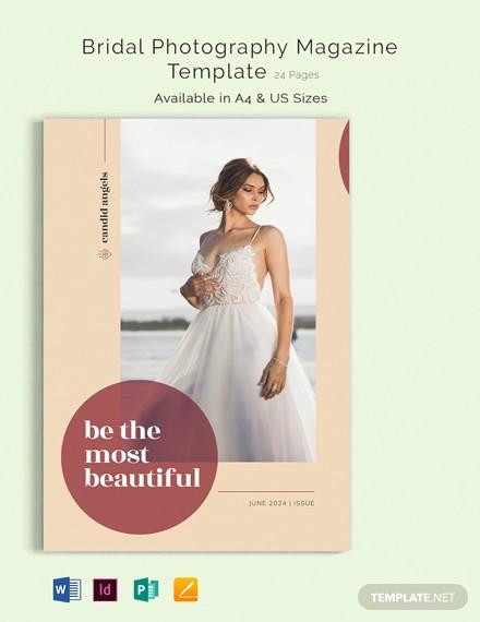 bridal photography magazine template
