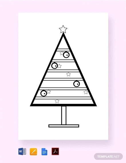 free coloring christmas tree template