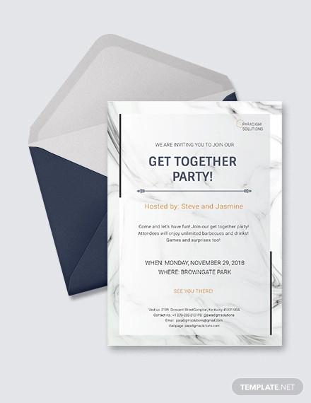 get together invitation design