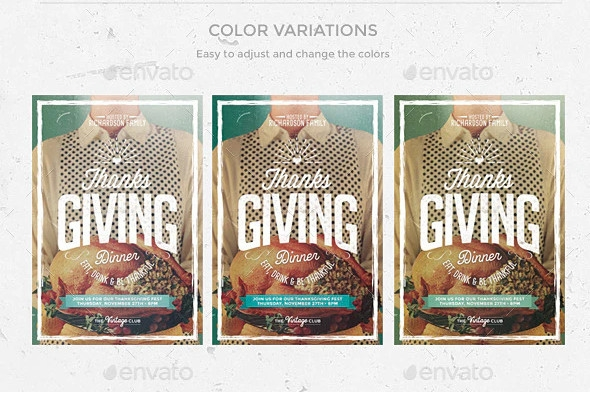 Thanksgiving Day Flyer Templates