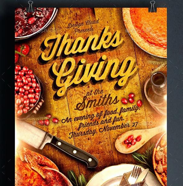 Thanksgiving Dinner Flyer Templates