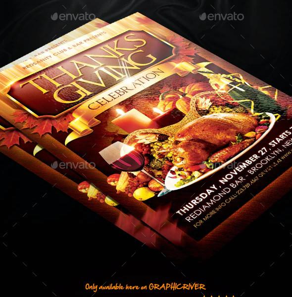 Thanksgiving Family Celebration Flyer Templates