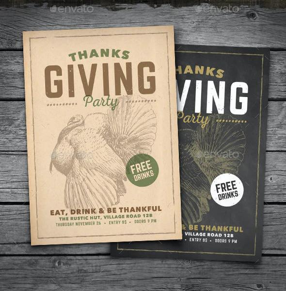 Vintage Thanksgiving Flyer Templates