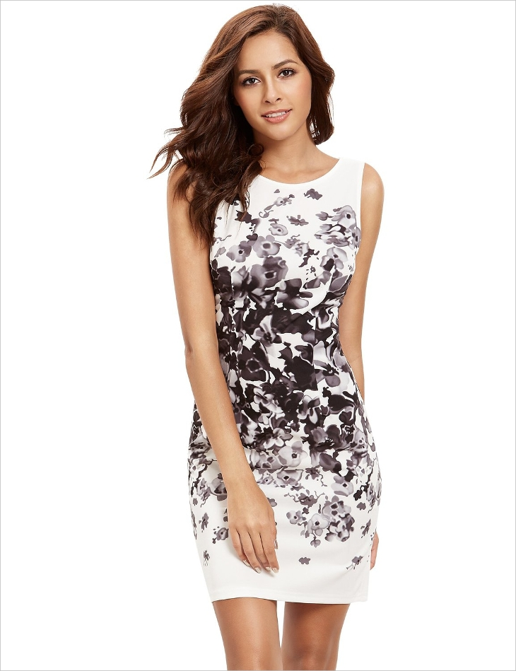 short black and white dress,