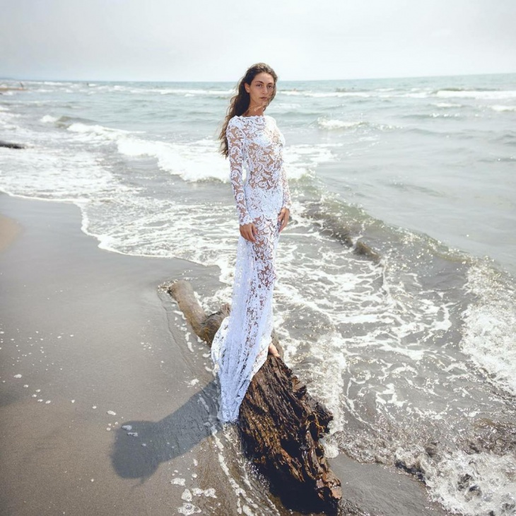 White Lace Beach Dress