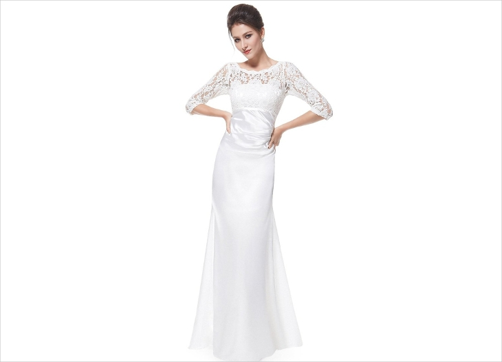 Long Formal White Dress
