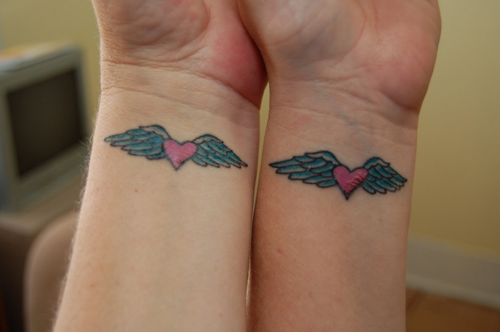 Love Heart Sister Tattoo
