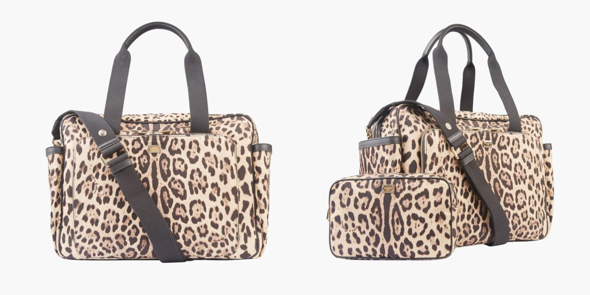 dolce gabbana leopard print baby change bag
