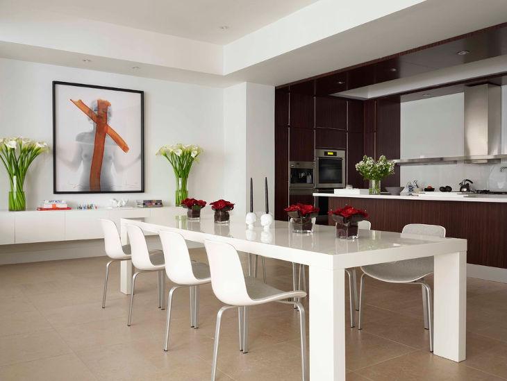 18+ White Dining Room Designs, Ideas | Design Trends - Premium Psd