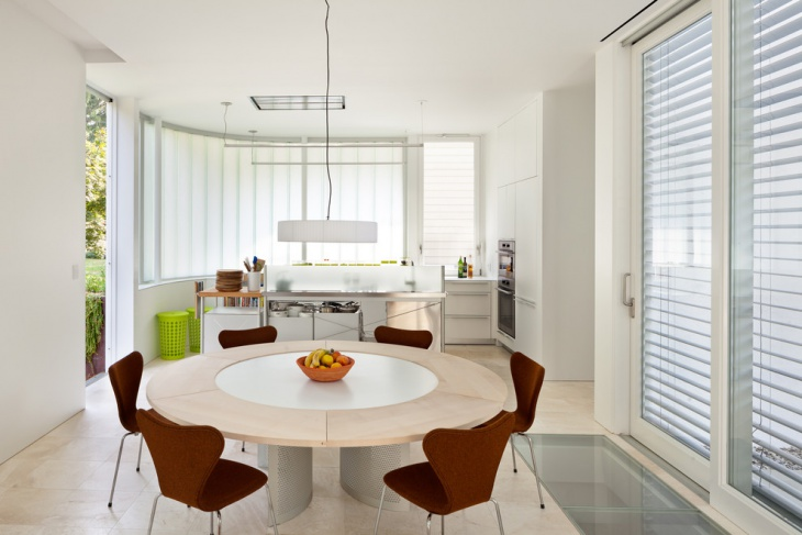 White kitchen Dining Table