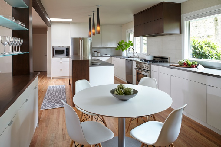 small white dining table idea