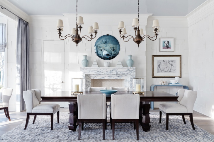 classic white dining room