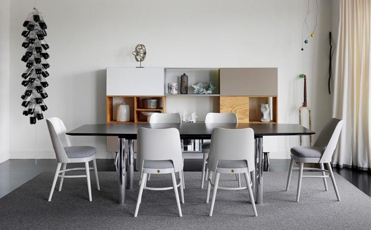 modern white dining room idea