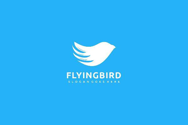 modern flying bird logo