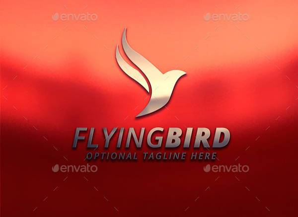 professional flying bird logo
