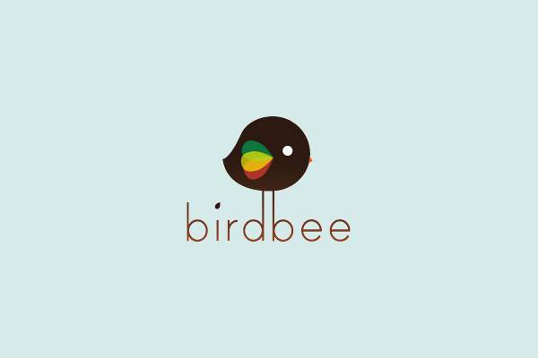 cute bird bee logo
