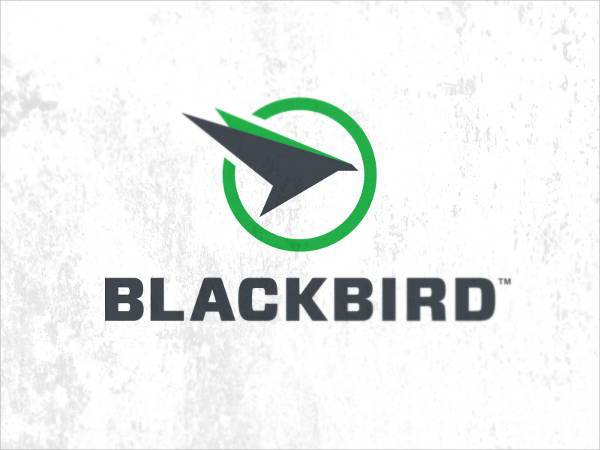 black bird circle logo