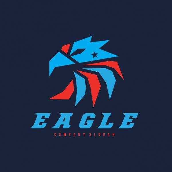 free eagle bird shape logo