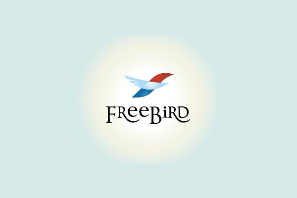 creative free bird logo