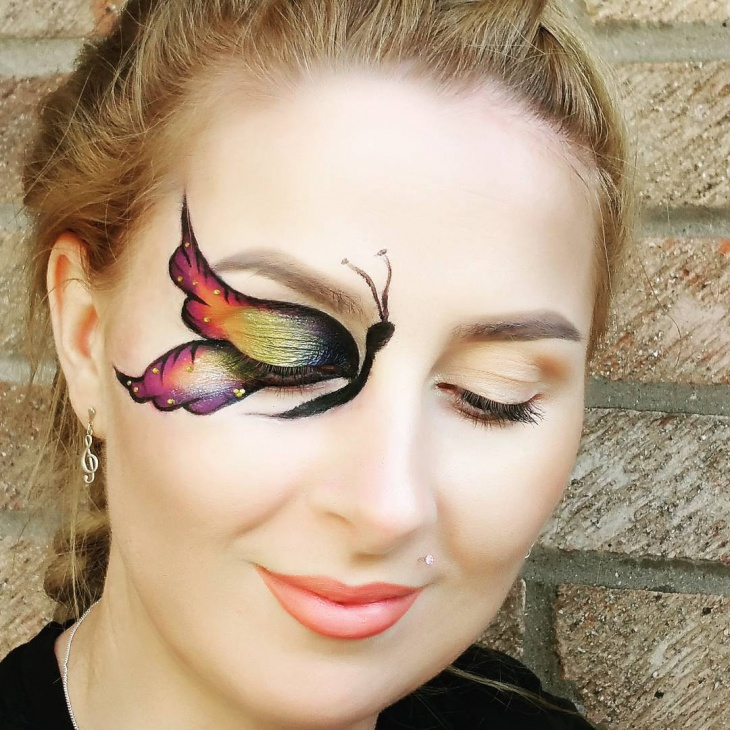 butterfly wings eye makeup design1