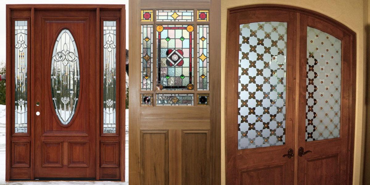 antique style glass door