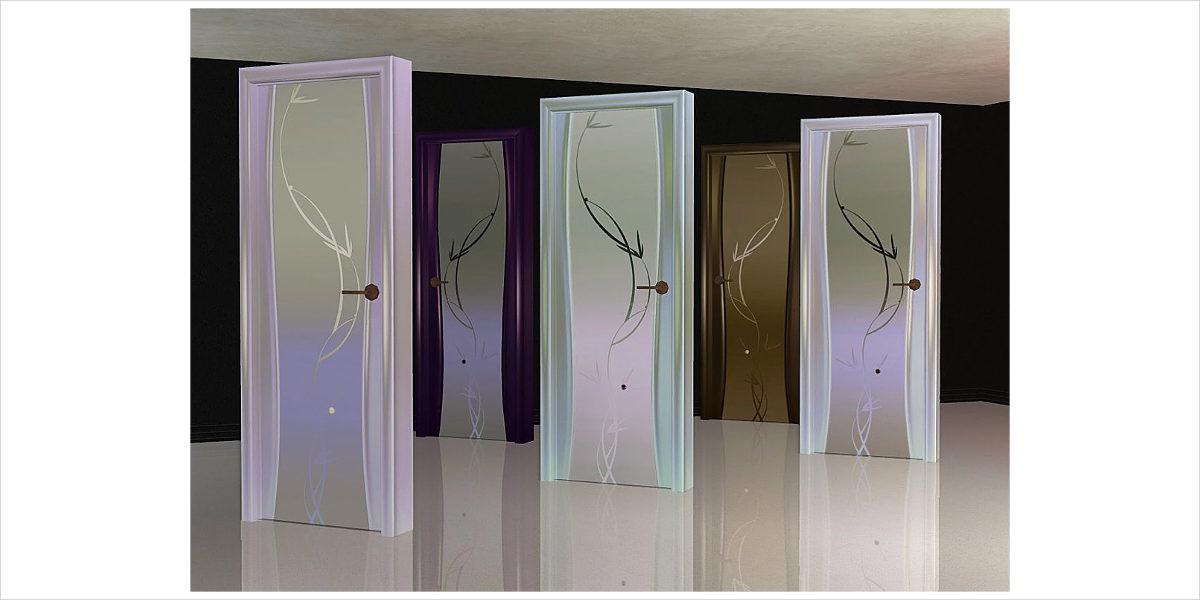 trendy glass door