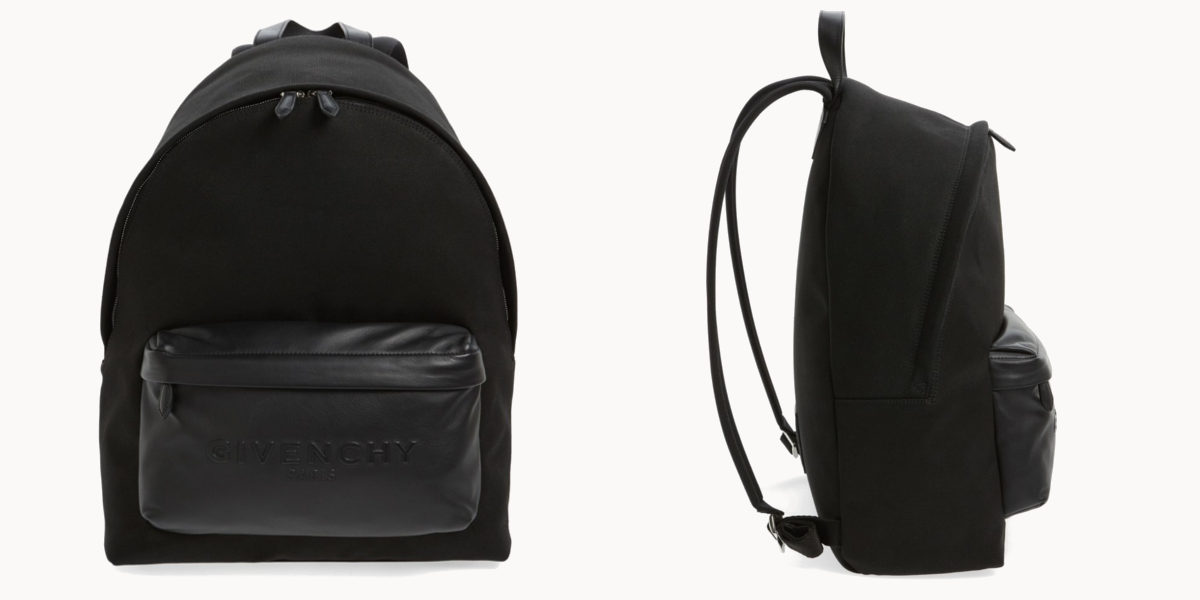 givenchy-leather-pocket-canvas-backpack