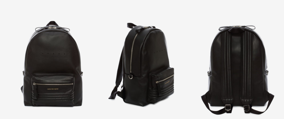 alexander mcqueen backpack with pockets