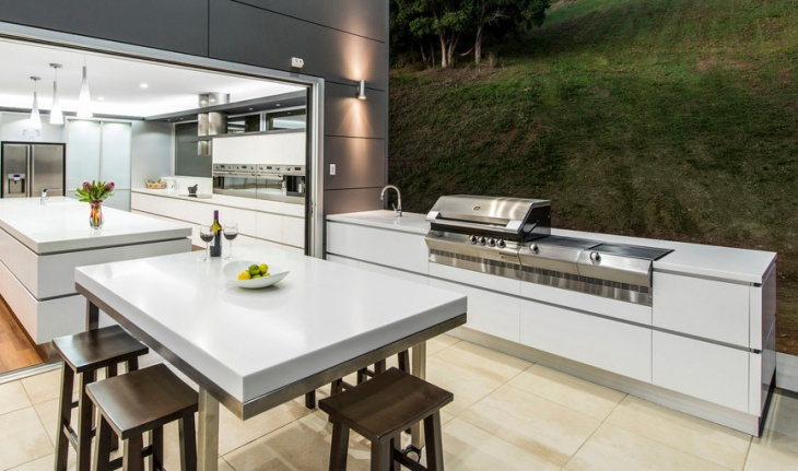 modern outdoor bbq kitchen