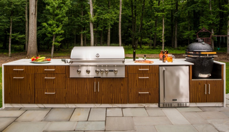 small modern outdoor kitchen